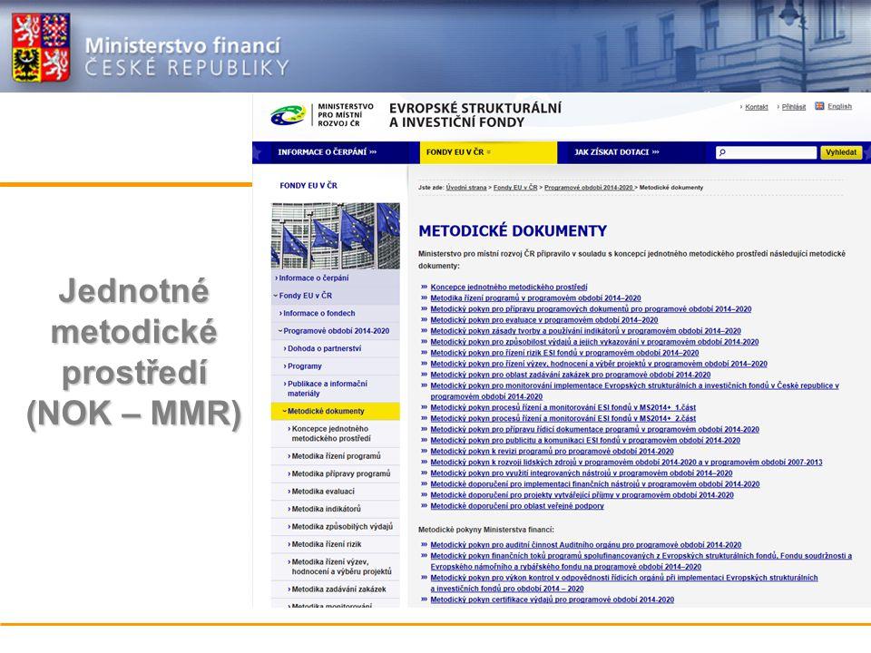Jednotné metodické prostředí (NOK – MMR)