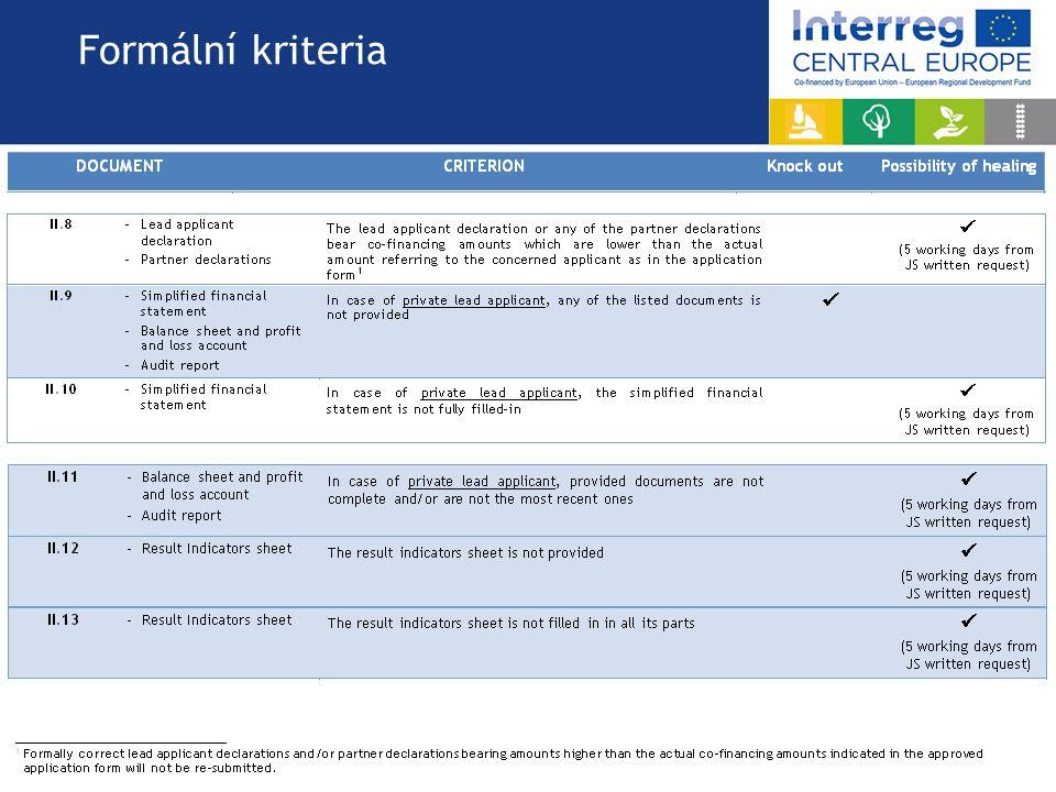 Formální kriteria