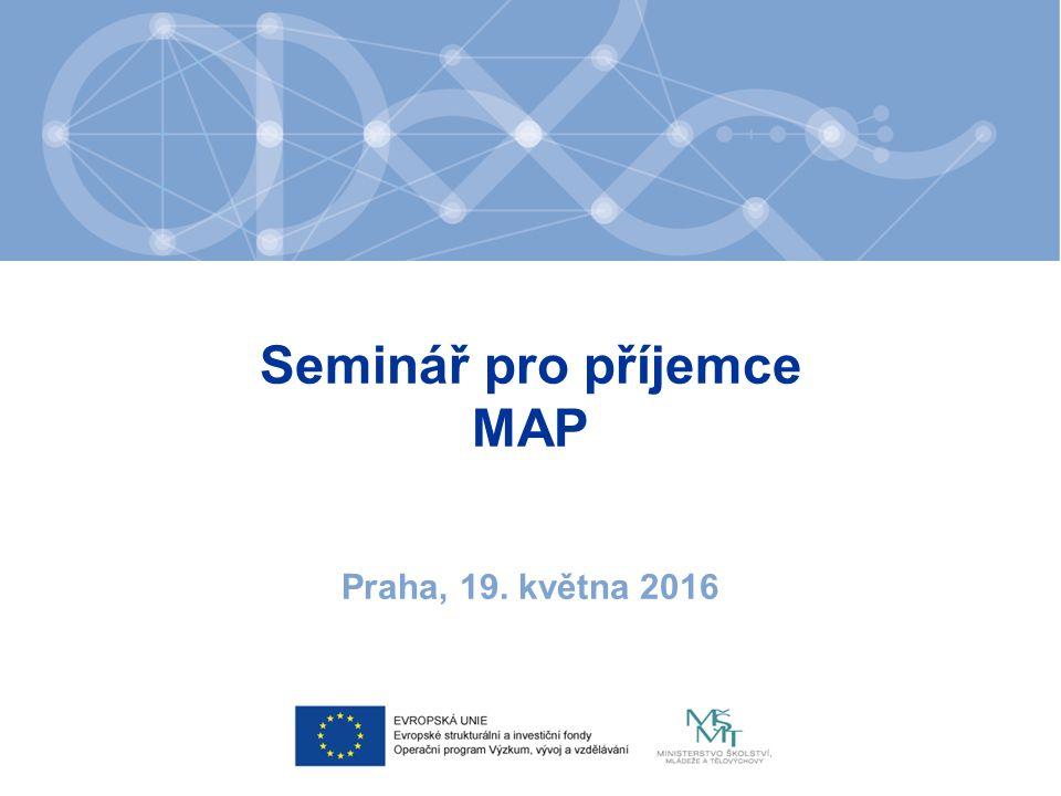 Cíle projektu ve vztahu k MAP 1.Koordinovat příjemce IPo MAP v územích 2.Zajistit tok informací mezi příjemci IPo MAP a MŠMT 3.Poskytnout jednotnou metodickou podporu 4.Aktualizovat metodiku Postupy tvorby MAP 5.Vytvořit příležitosti pro vzdělávání příjemců IPo MAP