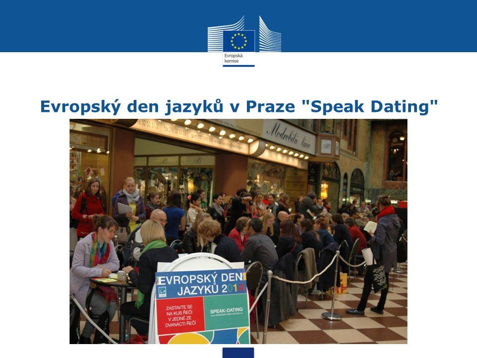Evropský den jazyků v Praze Speak Dating