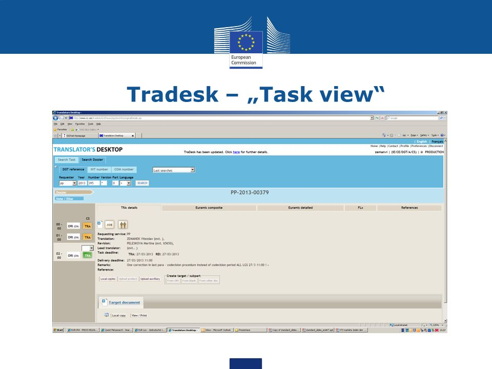 "Tradesk – ""Task view"""