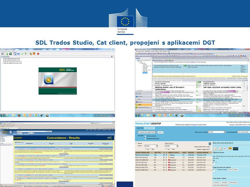 SDL Trados Studio, Cat client, propojení s aplikacemi DGT