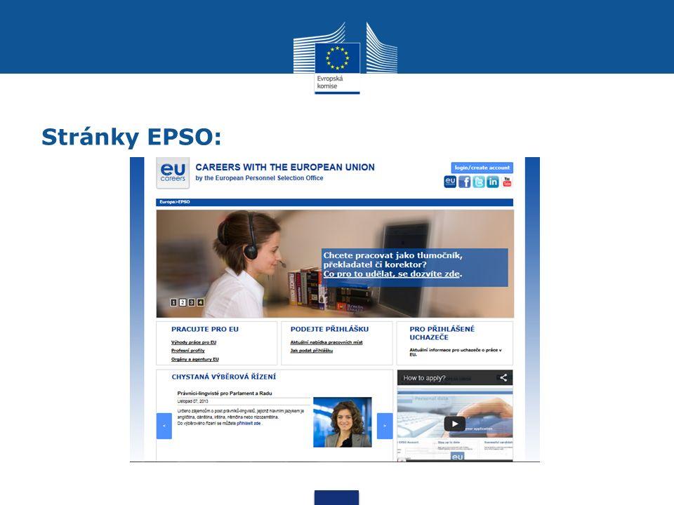 Stránky EPSO: