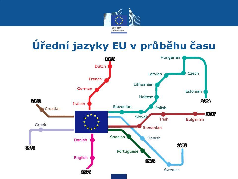 Úřední jazyky EU v průběhu času