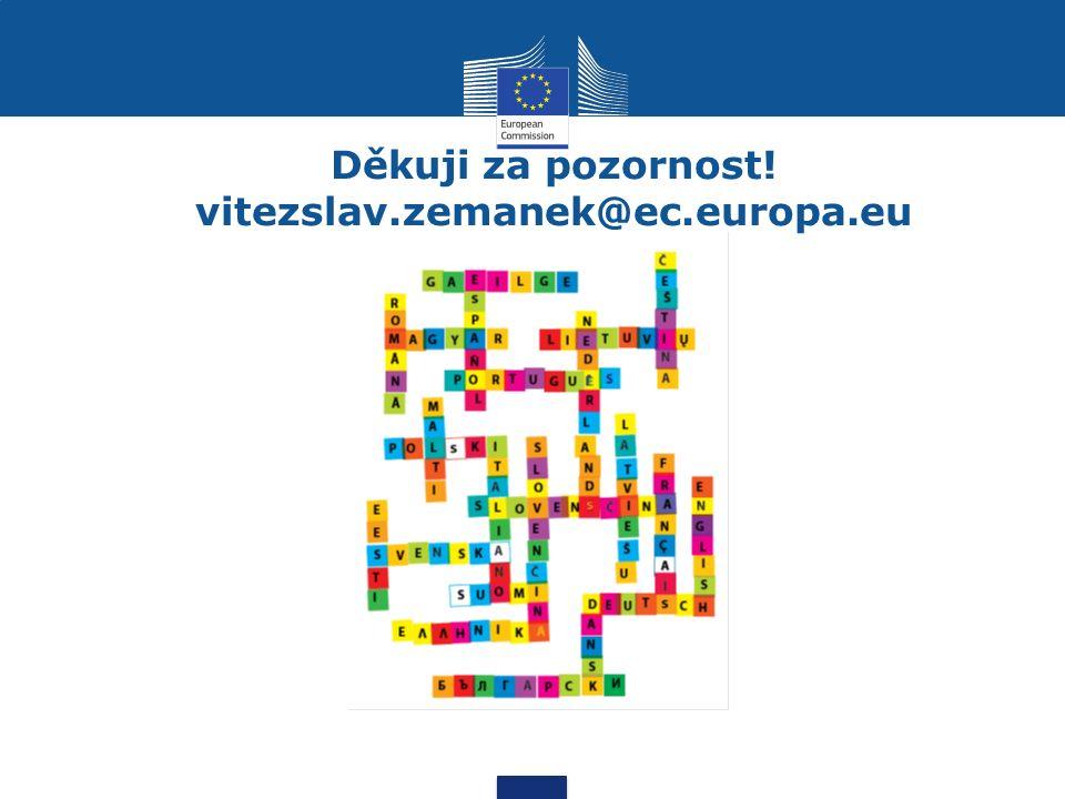Děkuji za pozornost! vitezslav.zemanek@ec.europa.eu