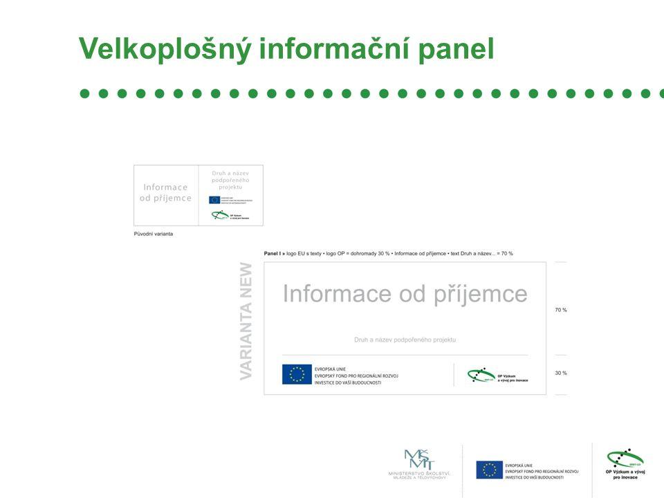 Velkoplošný informační panel