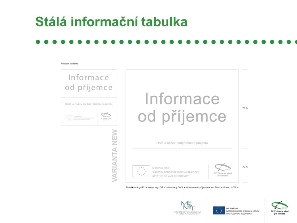 Stálá informační tabulka