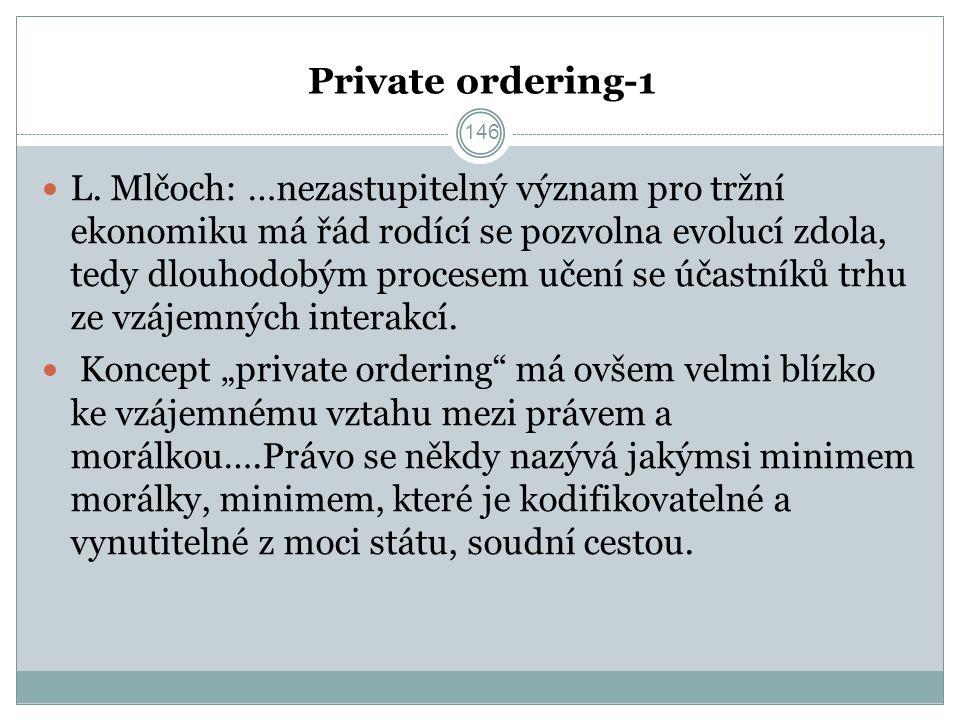 Private ordering-1 L.