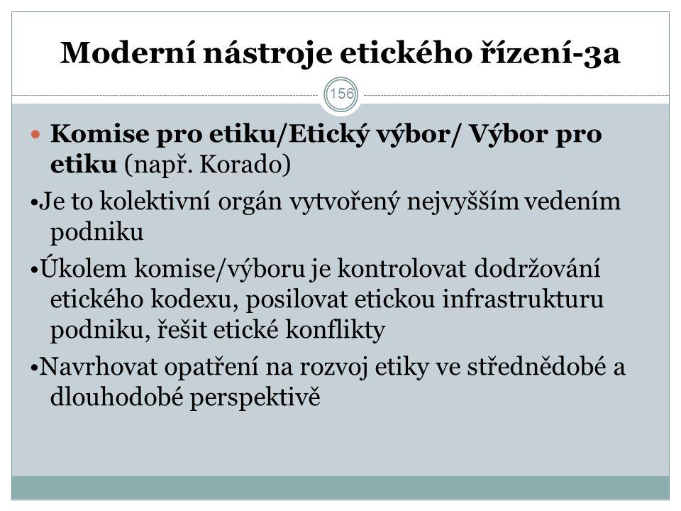 Moderní nástroje etického řízení-3a Komise pro etiku/Etický výbor/ Výbor pro etiku (např.