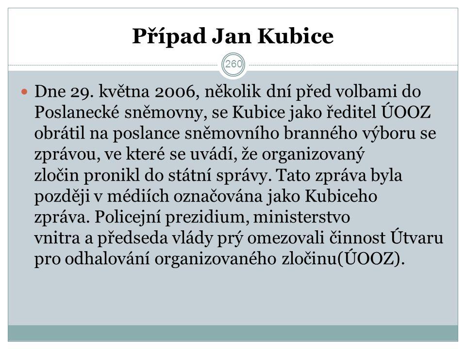 Případ Jan Kubice Dne 29.