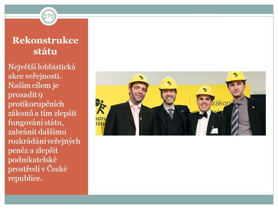 Rekonstrukce státu Největší lobbistická akce veřejnosti.