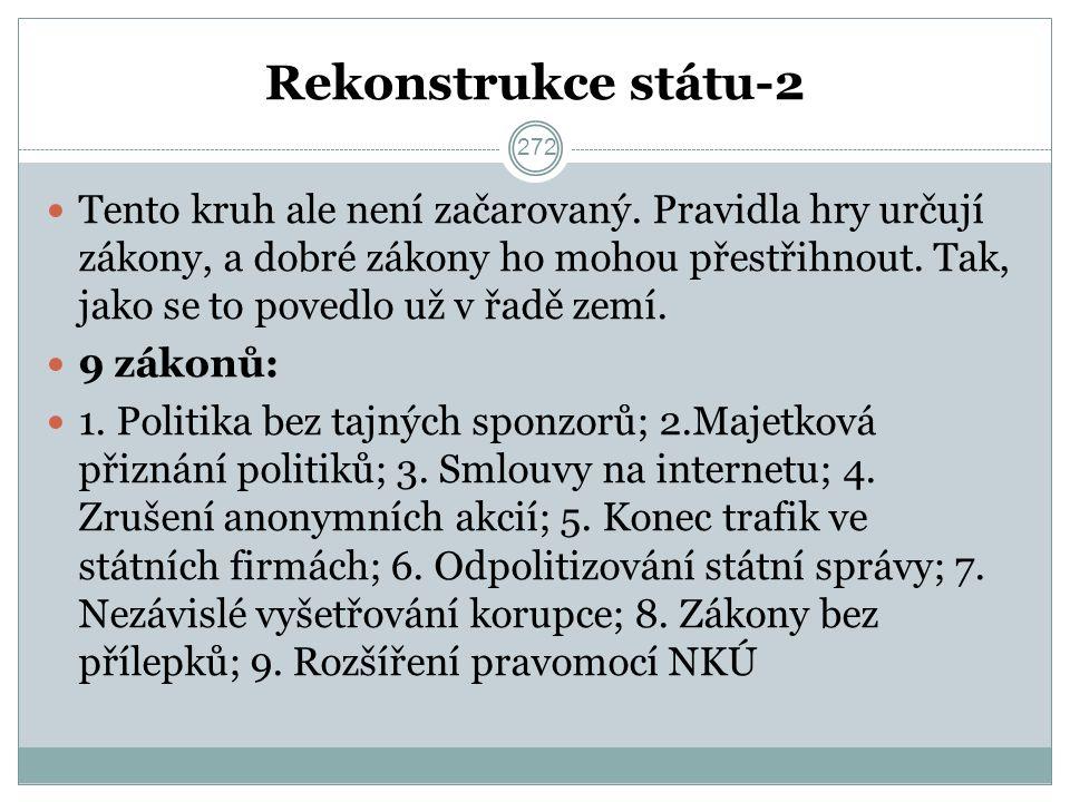 Rekonstrukce státu-2 Tento kruh ale není začarovaný.