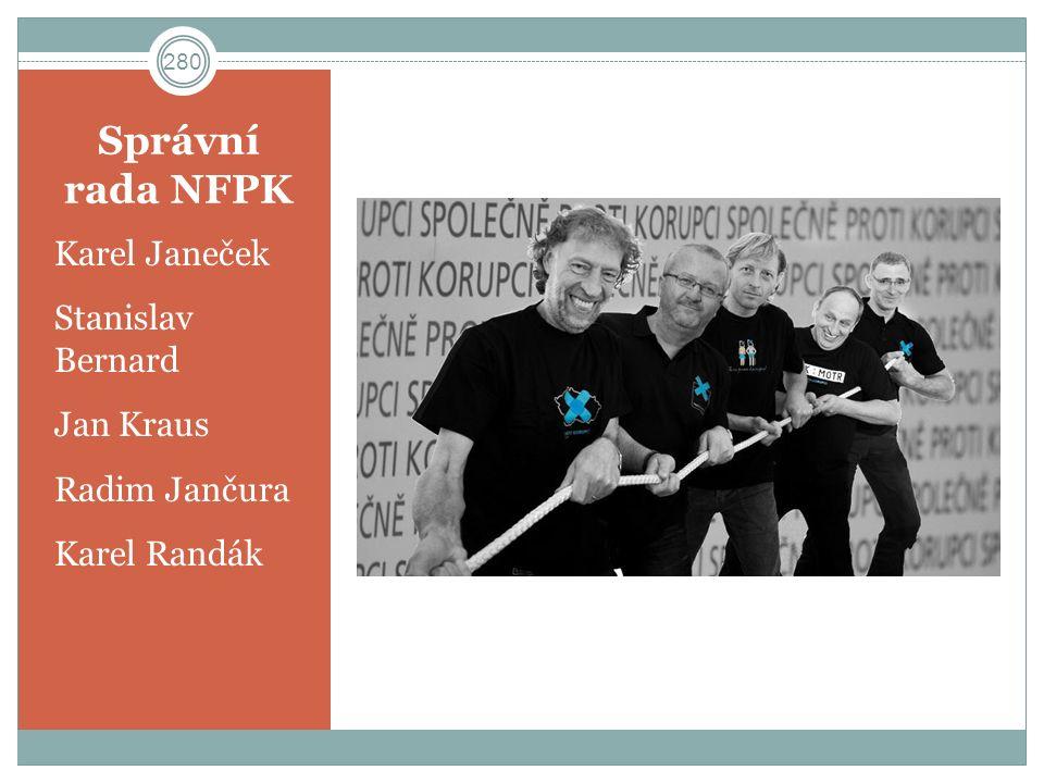 Správní rada NFPK Karel Janeček Stanislav Bernard Jan Kraus Radim Jančura Karel Randák 280
