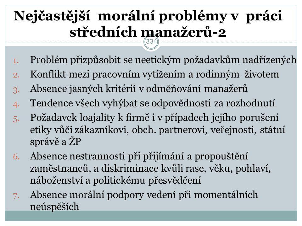 Nejčastější morální problémy v práci středních manažerů-2 1.