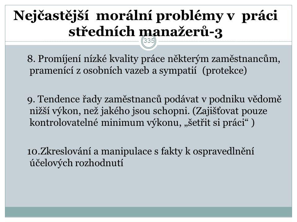 Nejčastější morální problémy v práci středních manažerů-3 8.