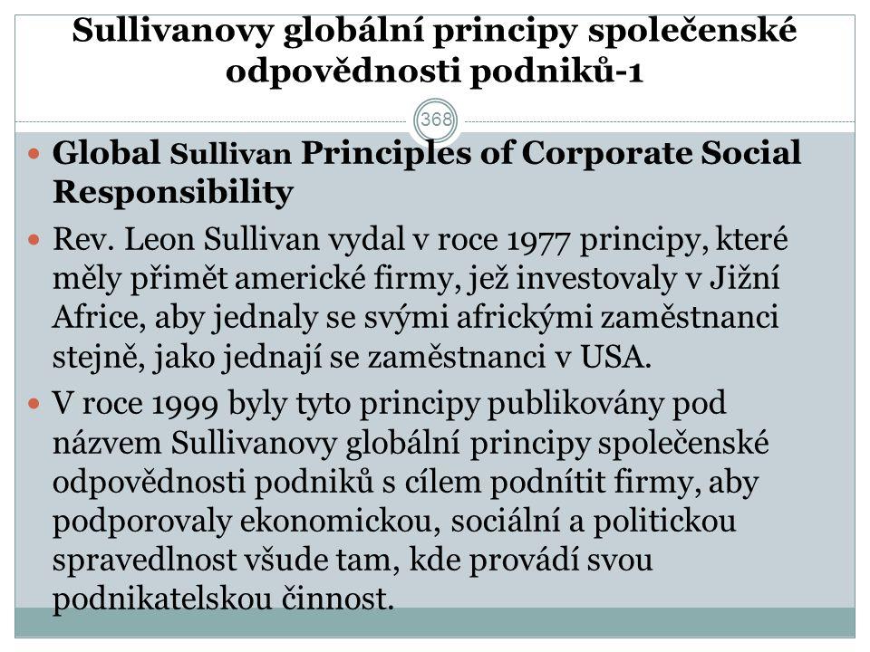 Sullivanovy globální principy společenské odpovědnosti podniků-1 Global Sullivan Principles of Corporate Social Responsibility Rev.