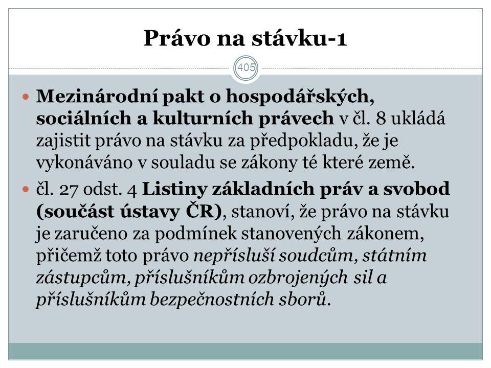 Právo na stávku-1 Mezinárodní pakt o hospodářských, sociálních a kulturních právech v čl.