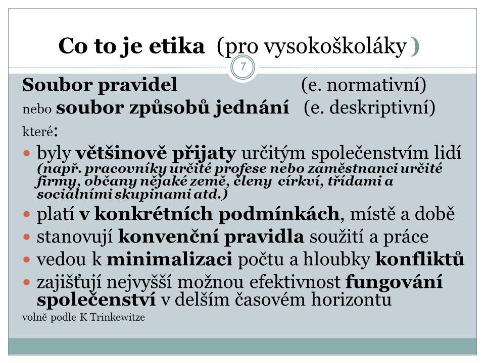78 4 rysy autonomního etického rozhodování 1.Schopnost subjektu racionalizovat etický problém 2.