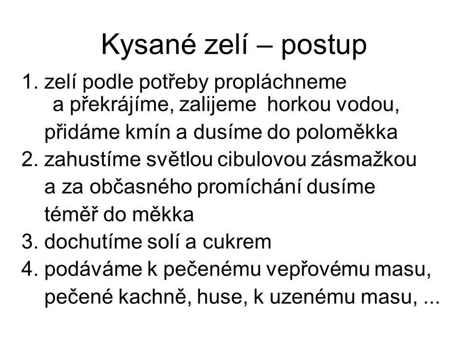 Kysané zelí – postup 1.