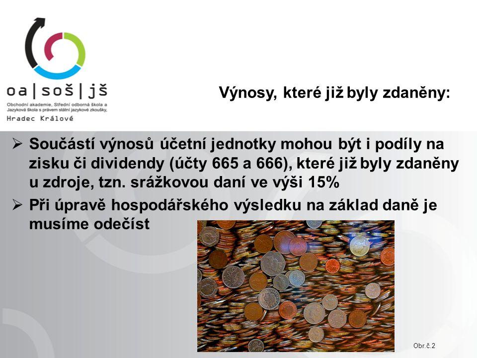 Odčitatelné položky od základu daně: §34: od základu daně lze odečíst daňovou ztrátu nebo její část, a to nejdéle v 5 následujících obdobích po období, kdy byla vyměřena §20: základ daně snížený dle §34 lze snížit o hodnotu darů, poskytnutou obcím, krajům,……….