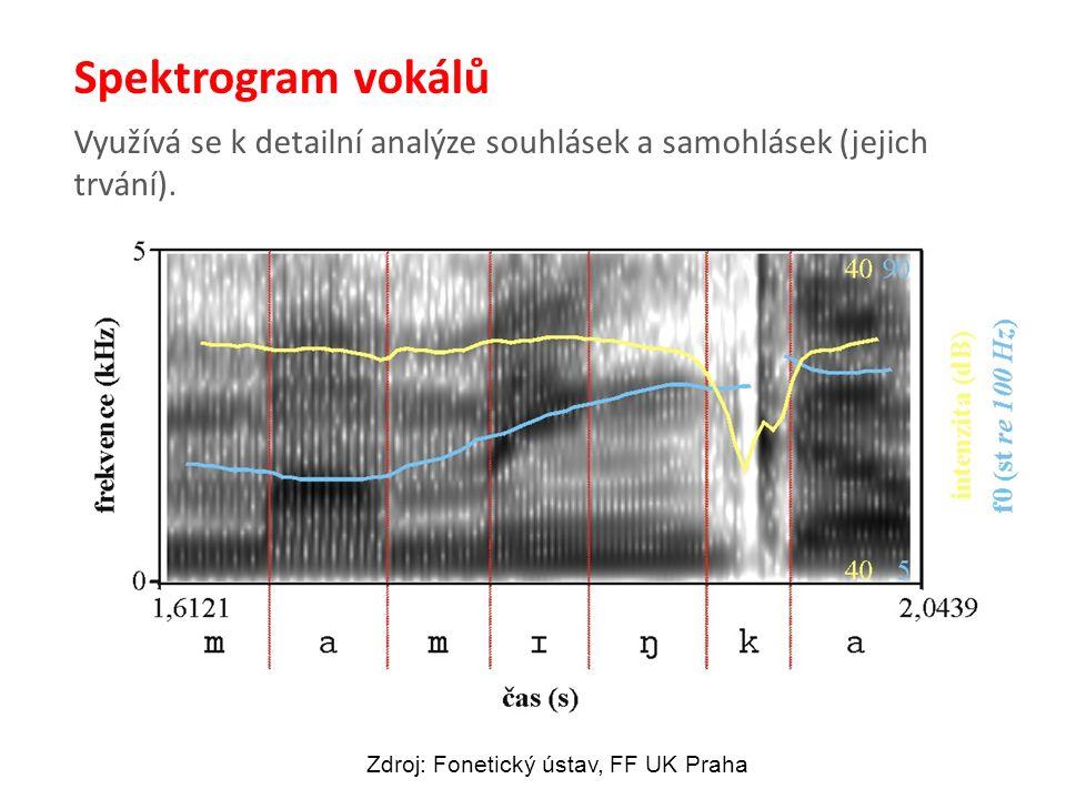 Využívá se k detailní analýze souhlásek a samohlásek (jejich trvání).