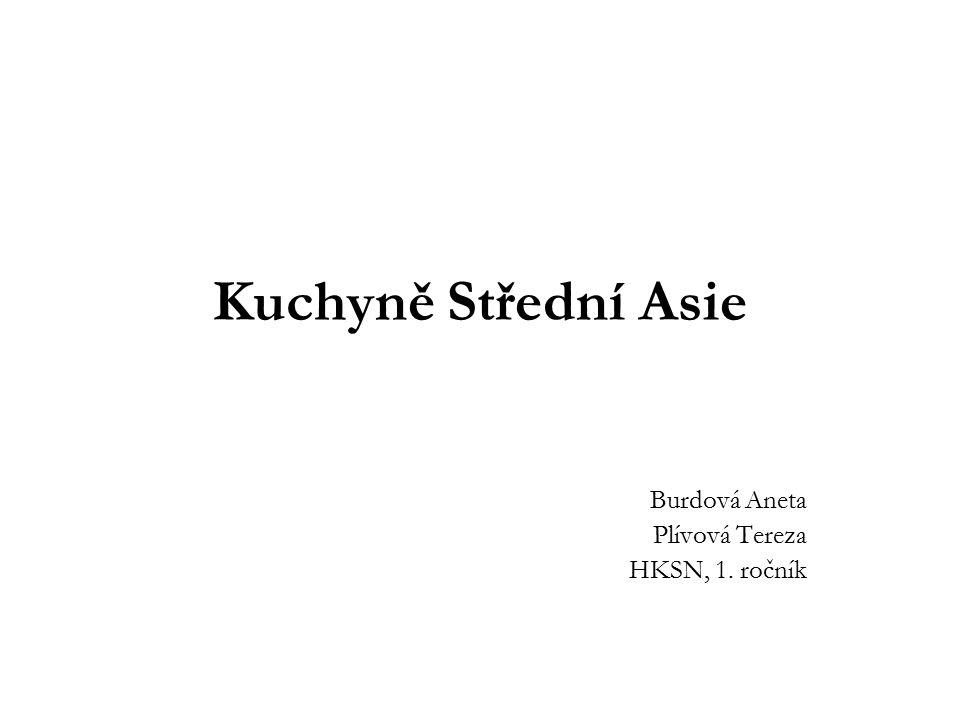 Kuchyně Střední Asie Burdová Aneta Plívová Tereza HKSN, 1. ročník