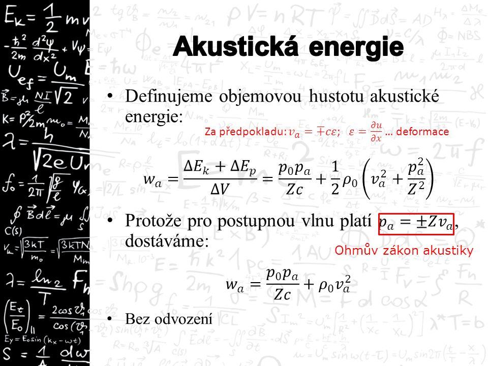 Δx=c Δt ρc=Z … akustická impedance