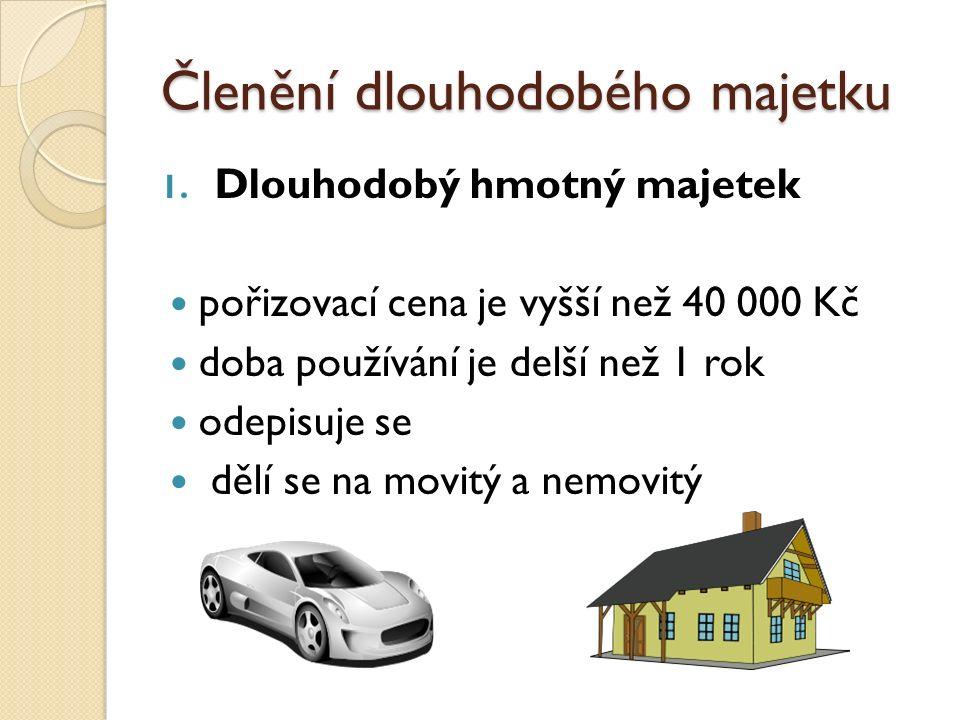 Členění dlouhodobého majetku 1.