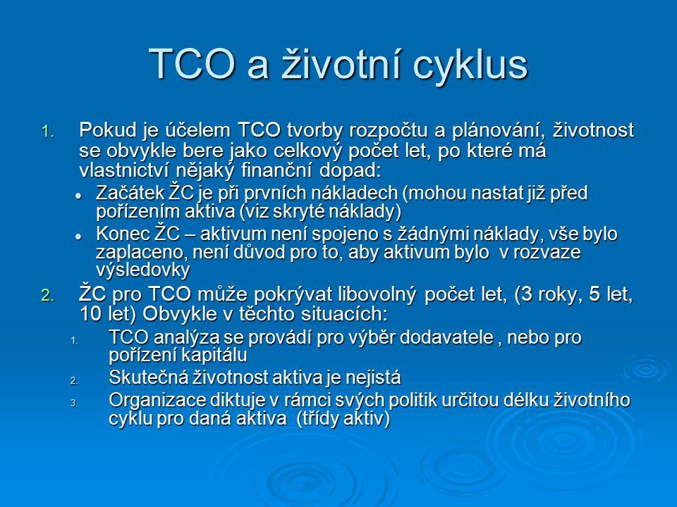 TCO a životní cyklus 1. Pokud je účelem TCO tvorby rozpočtu a plánování, životnost se obvykle bere jako celkový počet let, po které má vlastnictví něj