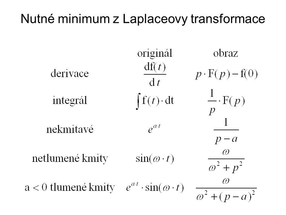 Nutné minimum z Laplaceovy transformace