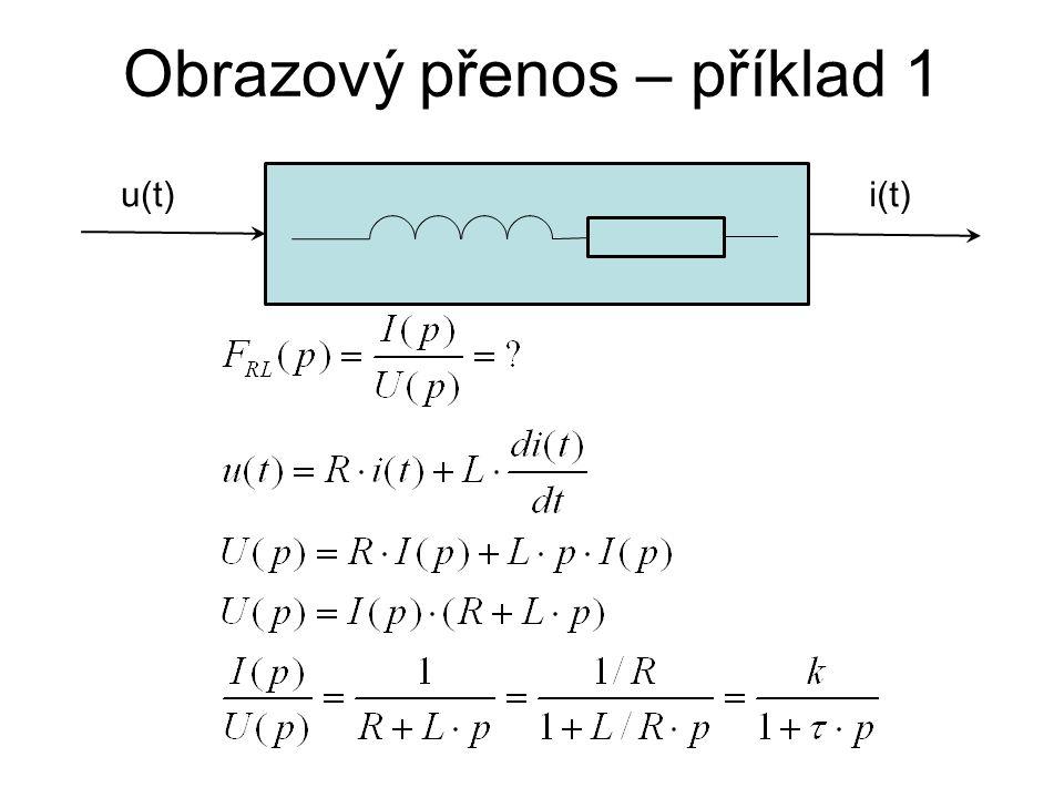 Obrazový přenos – příklad 1 u(t)i(t)