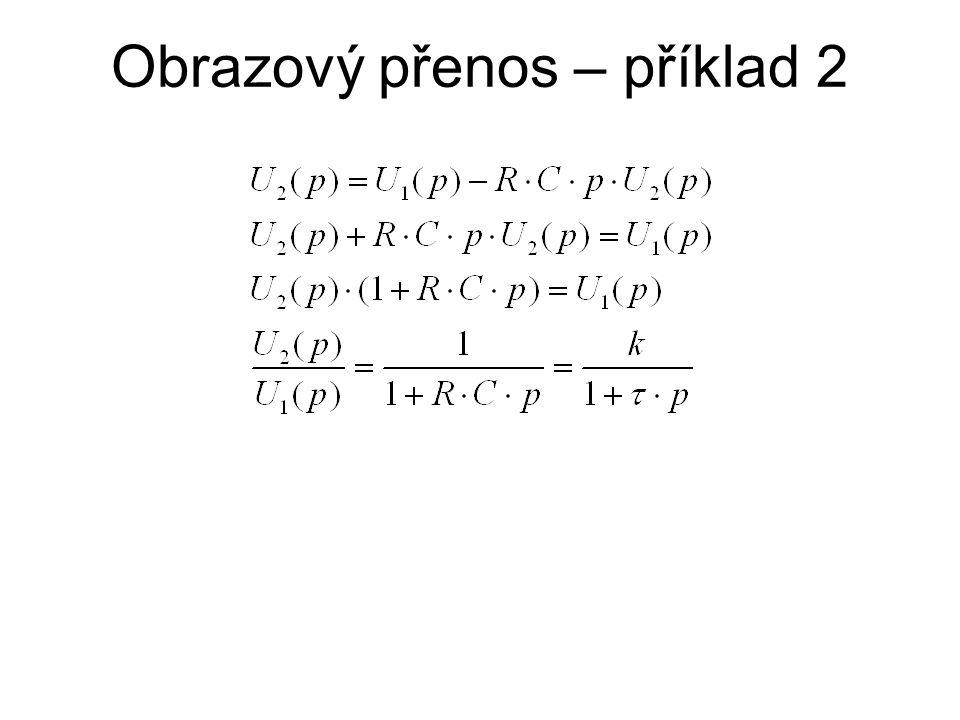 Základní (typové) bloky - integrace frekvenční charakteristiky spočtené:
