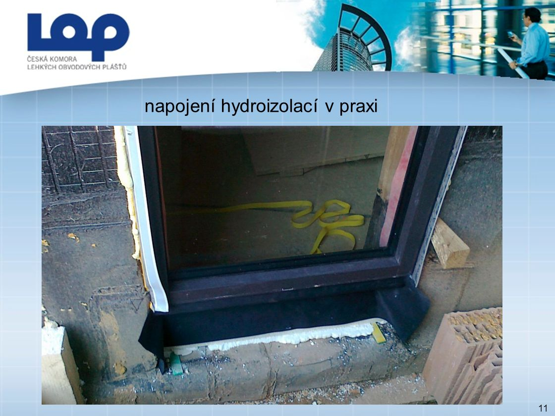 11 napojení hydroizolací v praxi