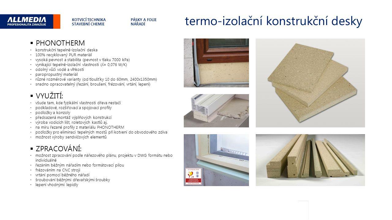 termo-izolační konstrukční desky .