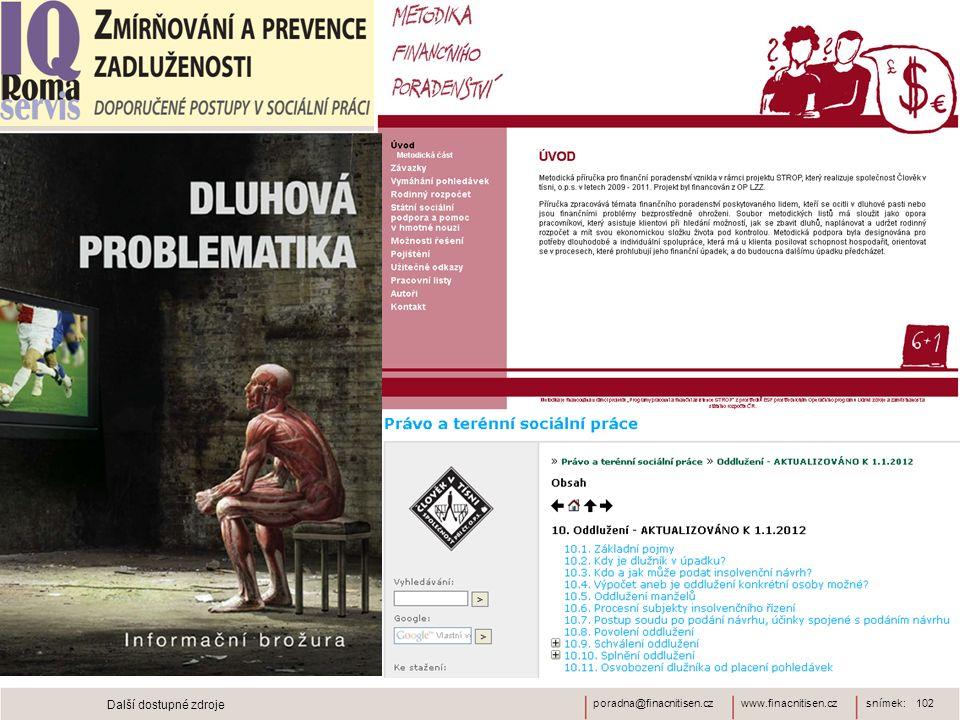 www.finacnitisen.czporadna@finacnitisen.czsnímek: 102 Další dostupné zdroje