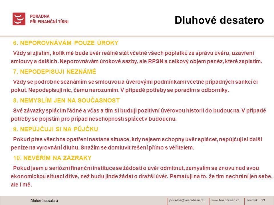www.finacnitisen.czporadna@finacnitisen.cz Dluhové desatero 6.
