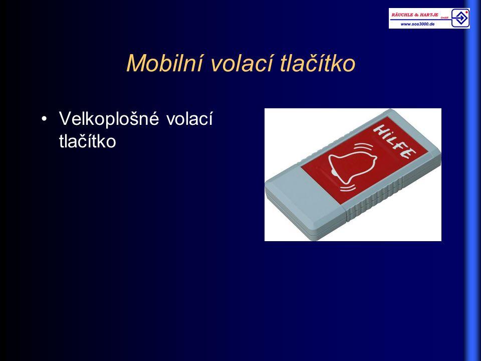Mobilní volací tlačítko Velkoplošné volací tlačítko