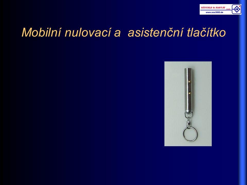 Mobilní nulovací a asistenční tlačítko