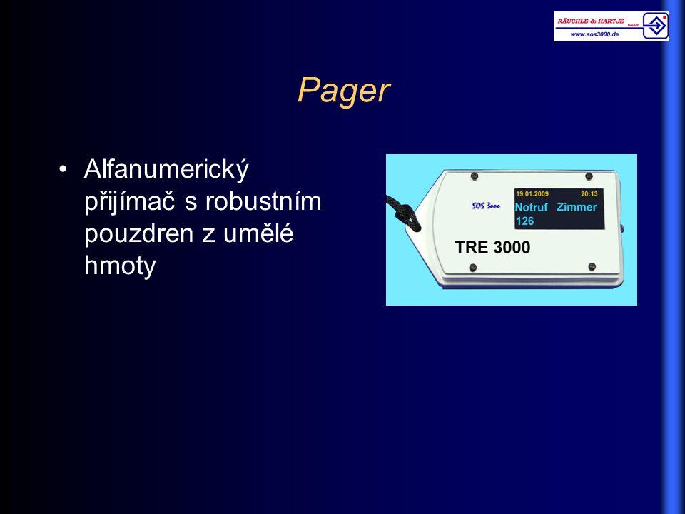 Alfanumerický přijímač s robustním pouzdren z umělé hmoty