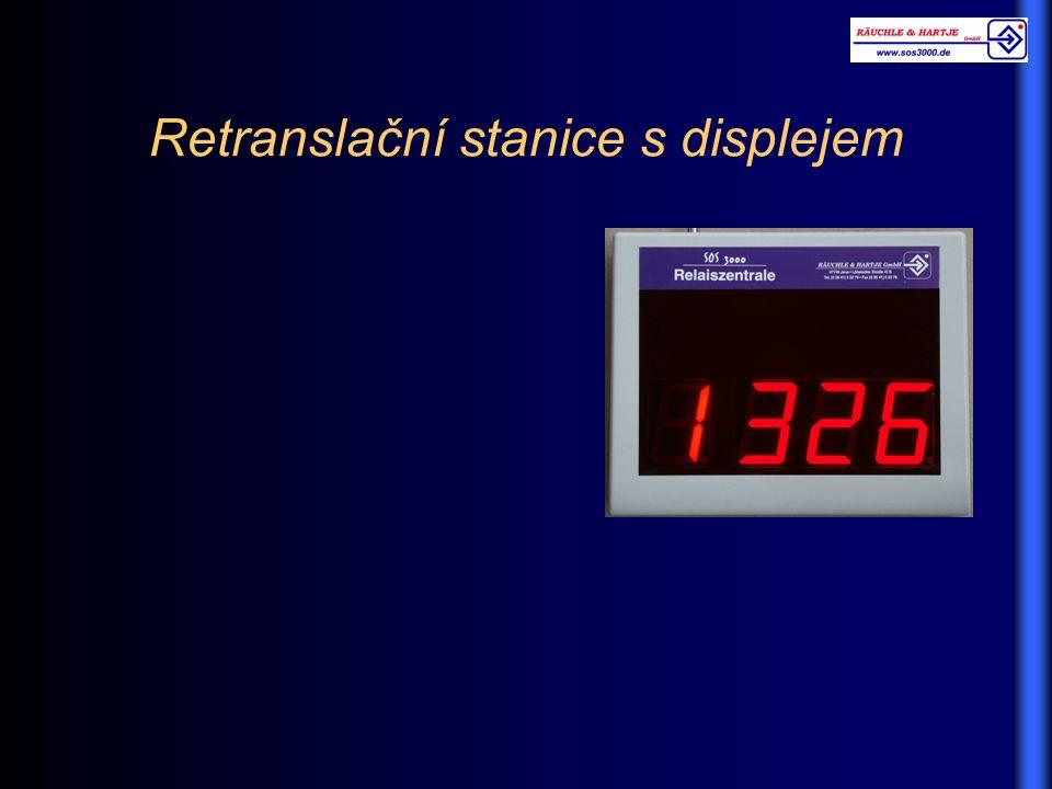 Retranslační stanice s displejem