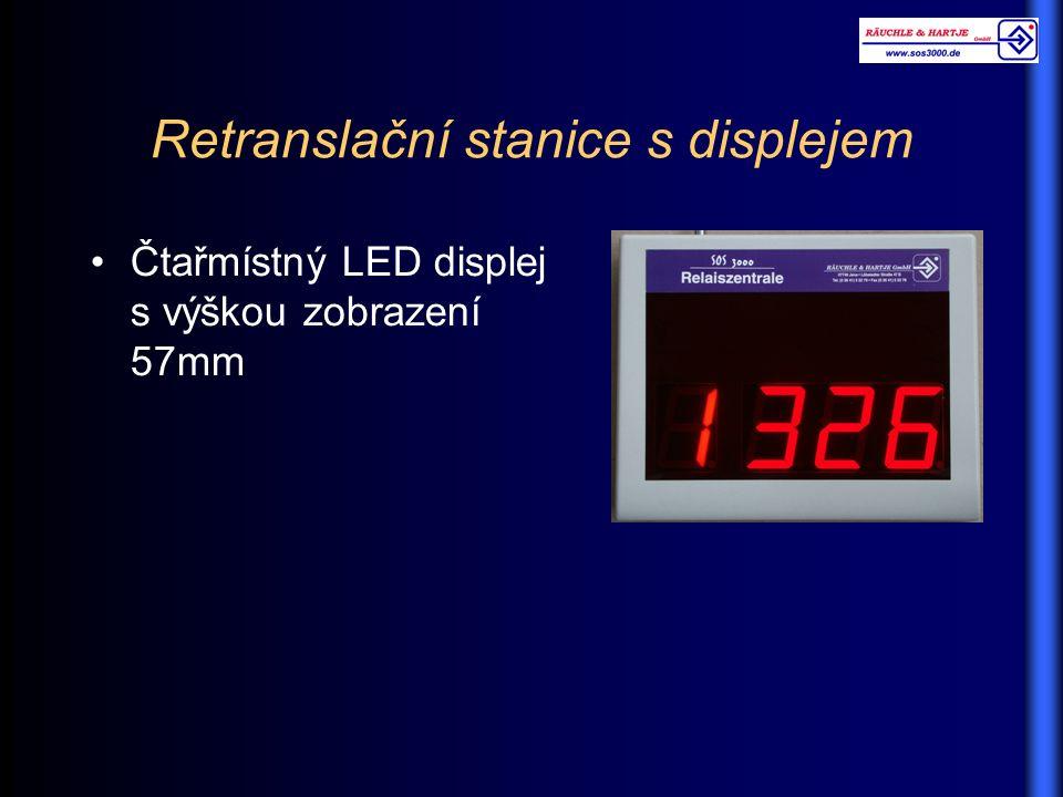 Retranslační stanice s displejem Čtařmístný LED displej s výškou zobrazení 57mm