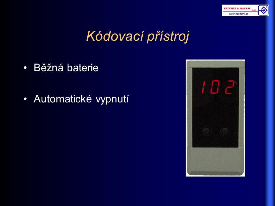 Kódovací přístroj Běžná baterie Automatické vypnutí
