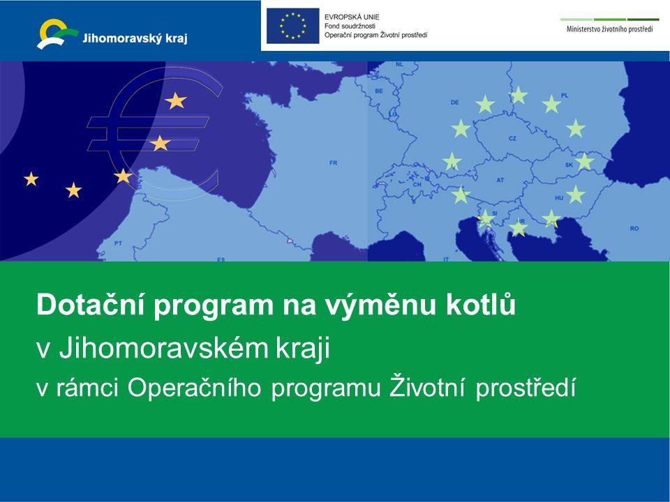 Dotační program na výměnu kotlů v Jihomoravském kraji v rámci Operačního programu Životní prostředí