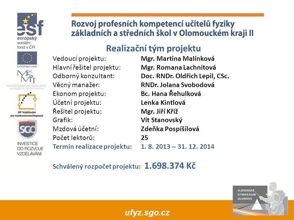 ufyz.sgo.cz Akreditace vzdělávacího programu: Žádost o akreditaci podána: 13.