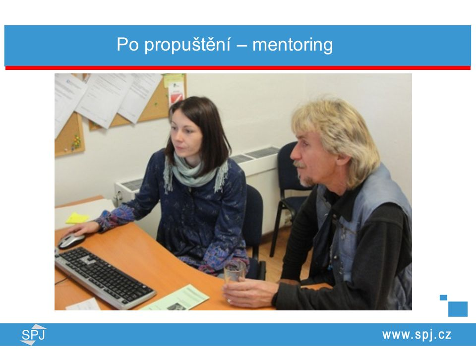 Po propuštění – mentoring