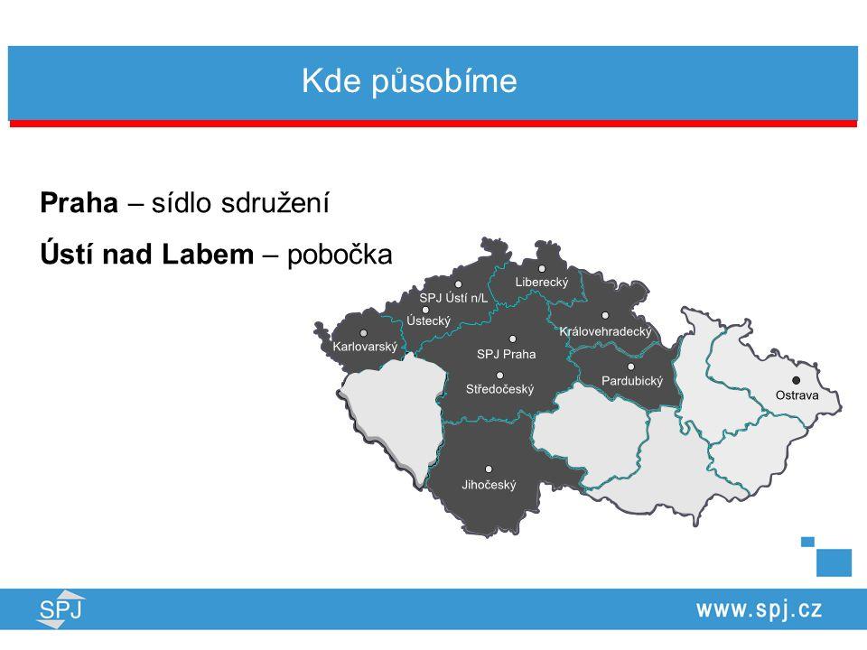 Kde působíme Praha – sídlo sdružení Ústí nad Labem – pobočka