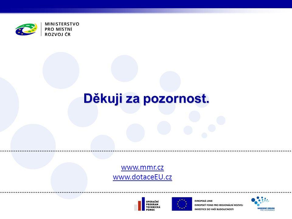 Děkuji za pozornost. www.mmr.cz www.dotaceEU.cz