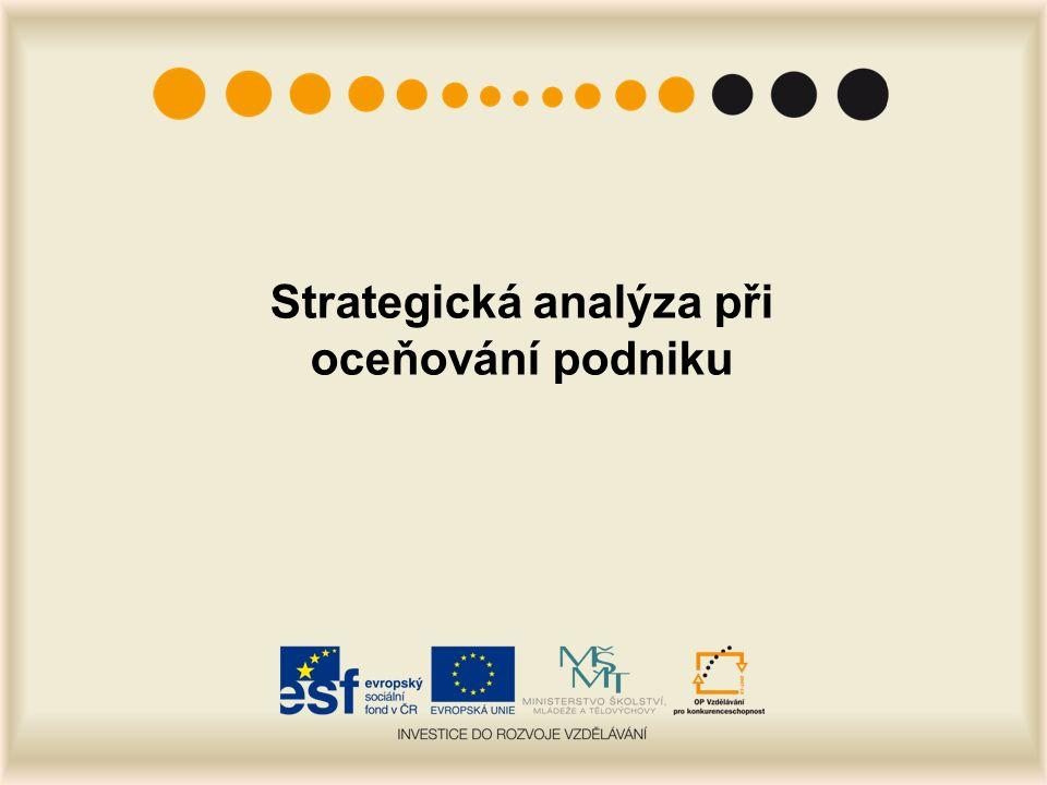 Strategická analýza při oceňování podniku