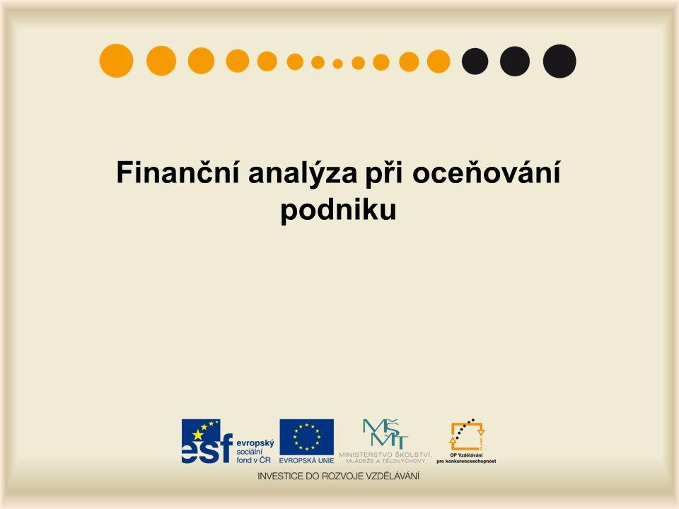 Finanční analýza při oceňování podniku