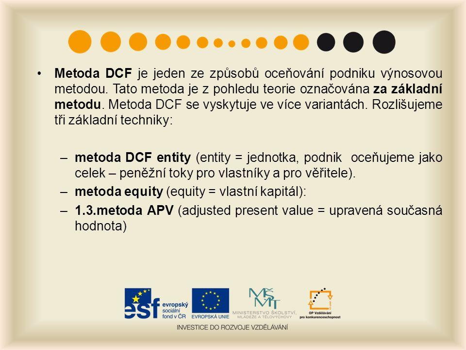 Metoda DCF je jeden ze způsobů oceňování podniku výnosovou metodou.